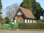 Image: Lychgate at cemetery, A6 Harborough Road